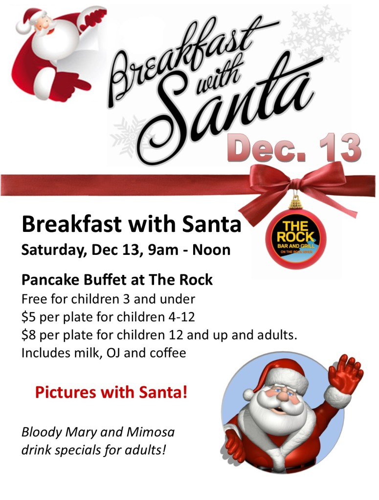 Breakfast With Santa @ The Rock Bar and Grill | Beloit | Wisconsin | United States